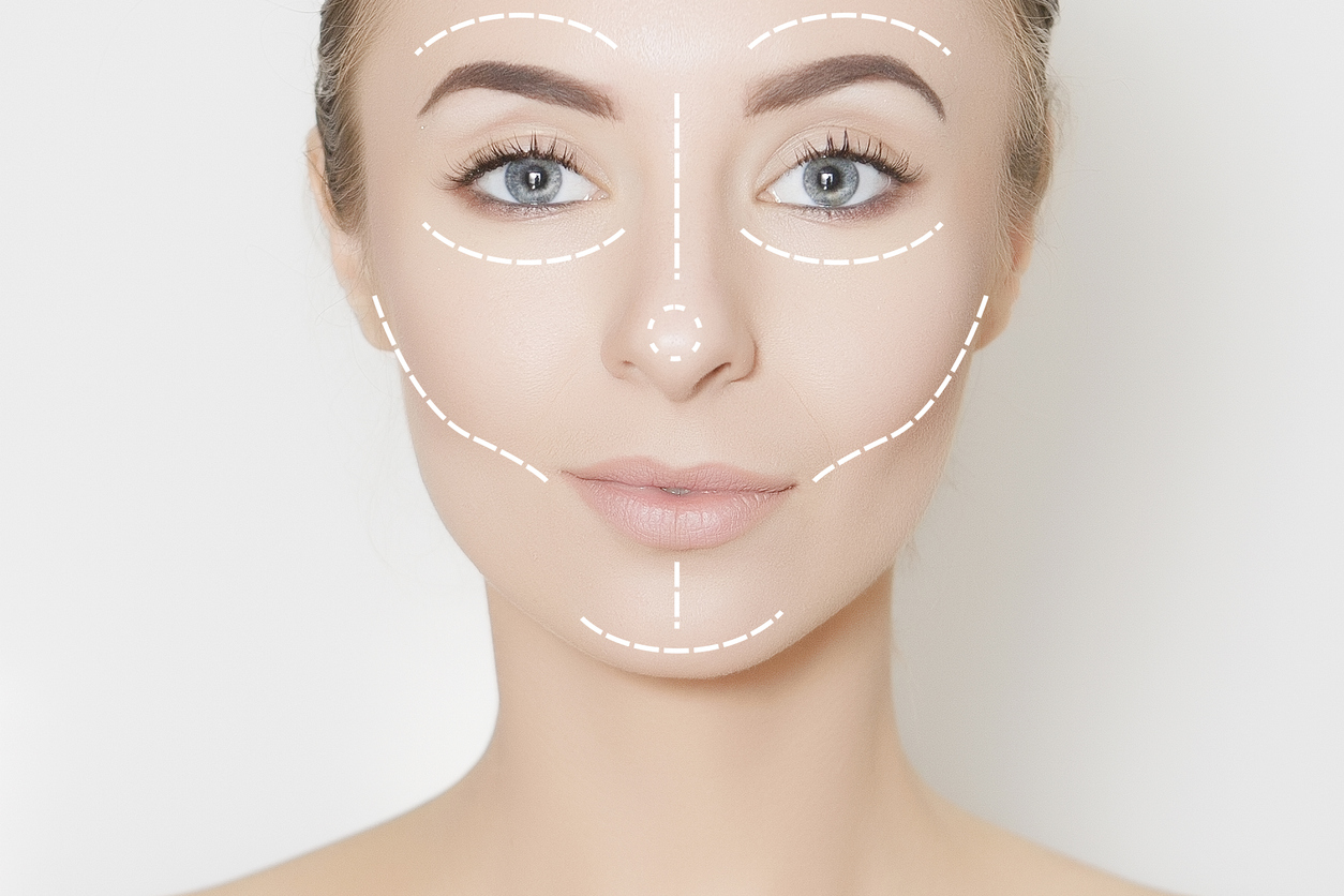 Image demonstating the importance of facial symmetry in beauty and attraction