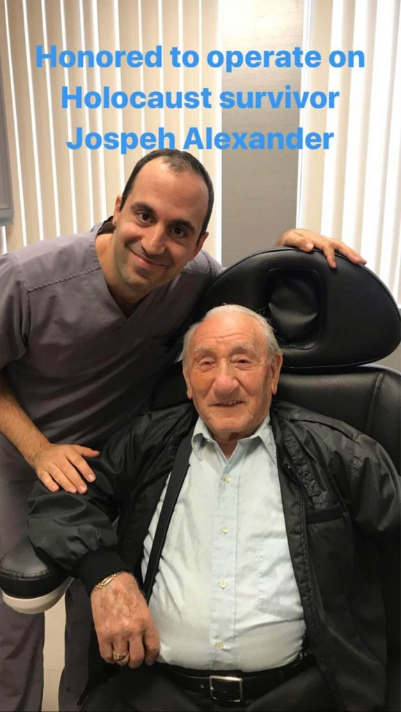 Dr Taban was honored to take care of brave Holocaust survivor Joseph Alexander who travels around the world giving speeches about his experience and wisdom