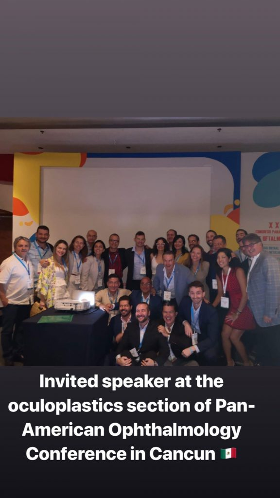 Dr. Taban was an invited speaker at the 2019 Pan-American Ophthalmology conference.